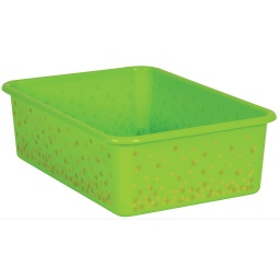 [20897 TCR] Lime Confetti Large Plastic Storage Bin