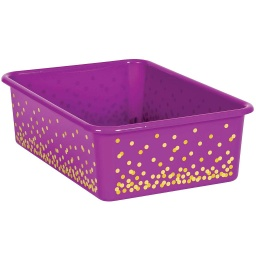 [20899 TCR] Purple Confetti Large Plastic Storage Bin