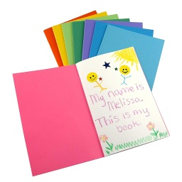 "[77735 HG] 6ct Bright Colors Blank Books 8.5"" x 11"""