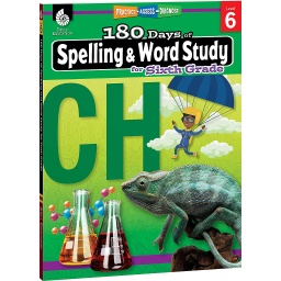 [28634 SHE] 180 Days of Spelling & Word Study Grade 6