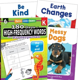 [109745 SHE] Learn at Home High Frequency Words Bundle 4 Book Set Grade K