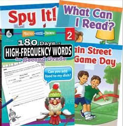 [109747 SHE] Learn at Home High Frequency Words Bundle 4 Book Set Grade 2