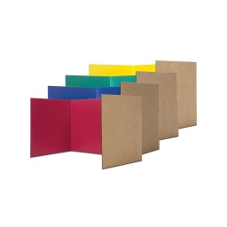 "[61849 FS] 24ct Assorted Color 18"" Corrugated Paper Study Carrel"