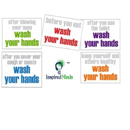[IMHS51P IM] Wash Your Hands Booster Set of 5 Posters