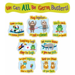 [110512 CD] One World Germ Busters Bulletin Board Set