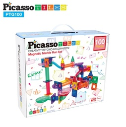 [PTG100 LAT] PicassoTiles 100pc Marble Run Building Blocks