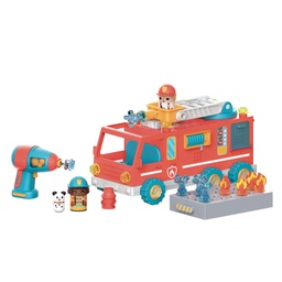 [4189 EI] Design & Drill Bolt Buddies Fire Truck