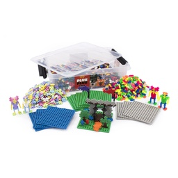[08028 PLU] Plus-Plus 3600 pc Mixed Colors in Tub With 12 Baseplates