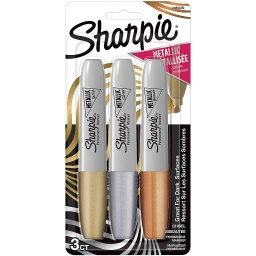 [2089609 SAN] 3ct Sharpie Chisel Tip Metallic Permanent Markers