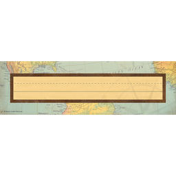 [8571 TCR] Travel The Map Flat Name Plates