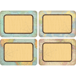 [8574 TCR] Travel The Map Name Tags Labels
