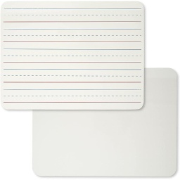 [35030 CLI] 12ct Two Sided Lined & Plain Dry Erase Lapboard Class Pack