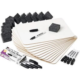 [35040 CLI] 12ct Two Sided Plain & Plain Dry Erase Lapboard Class Pack