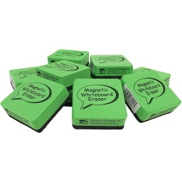 "[74542 CLI] 12ct Green & Black 2"" Magnetic Erasers"