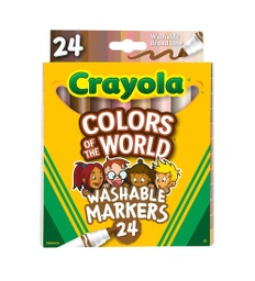 [587802 BIN] 24ct Crayola Colors of the World Markers