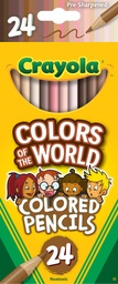 [684607 BIN] Crayola Colors of the World 24ct Colored Pencils