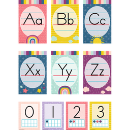 [9020 TCR] Oh Happy Day Alphabet Bulletin Board