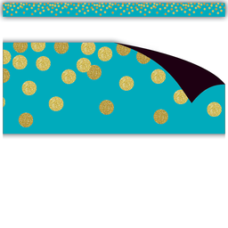 [77389 TCR] Teal Confetti Magnetic Border