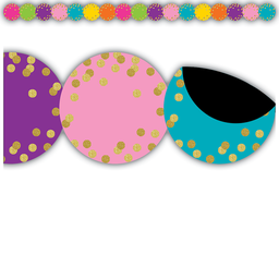 [77390 TCR] Confetti Circles Die-Cut Magnetic Border