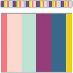 [9088 TCR] Oh Happy Day Stripes Straight Border Trim
