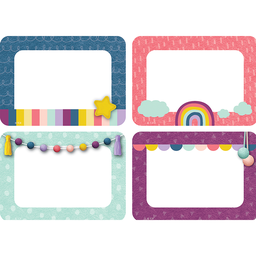 [9057 TCR] Oh Happy Day Name Tags Labels  Multi-Pack