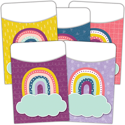 [9061 TCR] Oh Happy Day Library Pockets - Multi-Pack