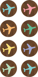 [8563 TCR] Travel the Map Airplanes Mini Stickers