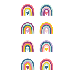 [9055 TCR] Oh Happy Day Rainbows Mini Stickers