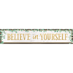 [8698 TCR] Eucalyptus Believe in Yourself Banner