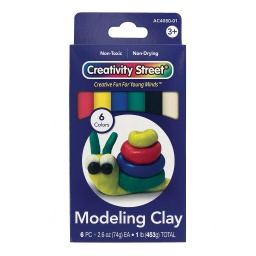 [AC4080 PAC] 6 Color Creativity Street Extruded Modeling Clay