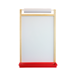 [17401 FS] Magnetic Dry Erase Wall Easel with Paper Roll