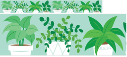 [10416 CTP]  Potted Plants Border