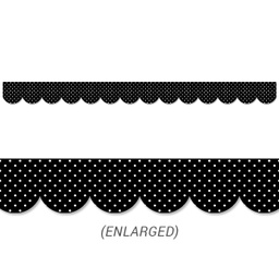 [10454 CTP] Swiss Dots Scalloped Border