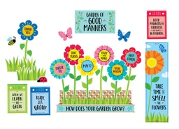 [10447 CTP] Garden of Good Manners Mini Bulletin Board Set