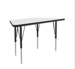 "[A2448DETRP80 COR] 24"" x 48 Trapezoid Dry Erase Top High Pressure Activity Table"