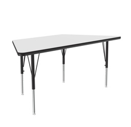"[A3060DETRP80 COR] 30"" x 60"" Trapezoid Dry Erase Top High Pressure Activity Table"