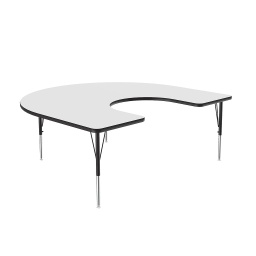 "[A4872DEKID80 COR] 60"" x 66"" Horseshoe Dry Erase Top High Pressure Activity Table"