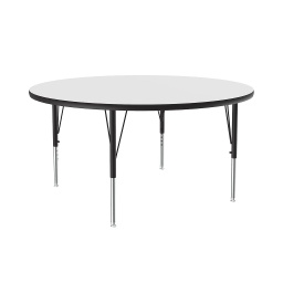 "[A48DERND80 COR] 48"" round Dry Erase Top High Pressure Activity Table"