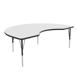 "[A6066DEHOR80 COR] 48"" x 72"" Kidney Dry Erase Top High Pressure Activity Table"