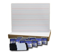 "[21034 FS] 12ct Ruled 9"" x 12"" Dry Erase Board Classroom Pack (10034CP FS)"