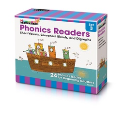 [5919 NL] Phonics Readers Boxed Set 3: Short Vowels, Consonant Blends, and Digraphs