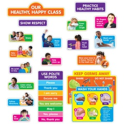 [862626 SC] Our Healthy Happy Class Bulletin Board Set