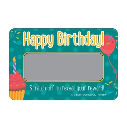 [101089 CD] Happy Birthday! Scratch Off Awards & Certificates