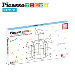 [PTC150 LAT] PicassoTiles 150 Piece Fort Building Kit