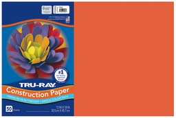 [103034 PAC] 12x18 Orange Tru-Ray Construction Paper 50ct Pack