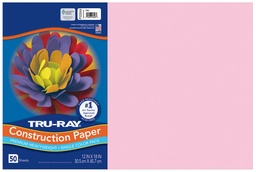 [103044 PAC] 12x18 Pink Tru-Ray Construction Paper 50ct Pack