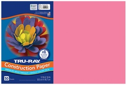 [103045 PAC] 12x18 Shocking Pink Tru-Ray Construction Paper 50ct Pack