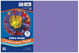 [103041 PAC] 12x18 Violet Tru-Ray Construction Paper 50ct Pack