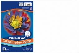 [103058 PAC] 12x18 White Tru-Ray Construction Paper 50ct Pack