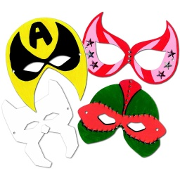 [52097 R] 24ct Die Cut Super Hero Masks